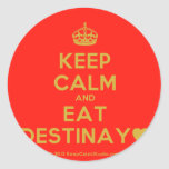 [Crown] keep calm and eat destinay♥  Stickers