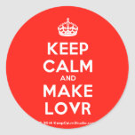 [Crown] keep calm and make lovr  Stickers