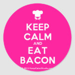 [Chef hat] keep calm and eat bacon  Stickers