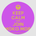 [Smile] keep calm and join moko.mobi  Stickers