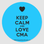 [Love heart] keep calm and love cma  Stickers