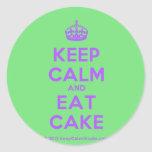[Crown] keep calm and eat cake  Stickers