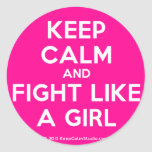 keep calm and fight like a girl  Stickers