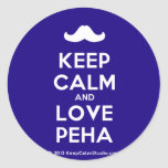 [Moustache] keep calm and love peha  Stickers