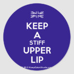 [UK Flag] keep a stiff upper lip  Stickers