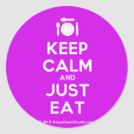 [Cutlery and plate] keep calm and just eat  Stickers