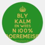 [Crown] bly kalm en wees n 100% boeremeisie  Stickers
