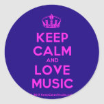 [Dancing crown] keep calm and love music  Stickers