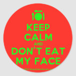 [Cutlery and plate] keep calm and don't eat my face  Stickers