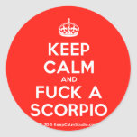 [Crown] keep calm and fuck a scorpio  Stickers