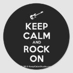 [Electric guitar] keep calm and rock on  Stickers