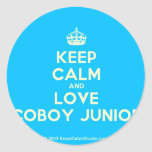 [Crown] keep calm and love coboy junior  Stickers