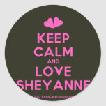 [Two hearts] keep calm and love sheyanne  Stickers