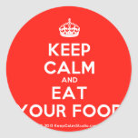 [Crown] keep calm and eat your food  Stickers