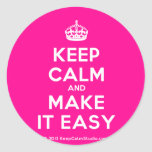 [Crown] keep calm and make it easy  Stickers