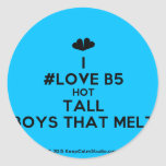 [Two hearts] i #love b5 hot tall boys that melt  Stickers
