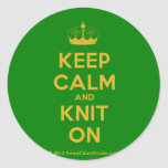 [Knitting crown] keep calm and knit on  Stickers