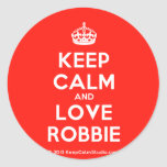 [Crown] keep calm and love robbie  Stickers