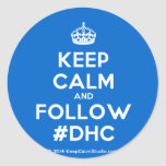 [Crown] keep calm and follow #dhc  Stickers
