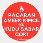 [Campfire] pacaran ambek kimcil iku kudu sabar cok!  Stickers