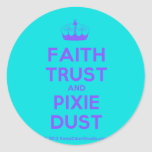 [Knitting crown] faith trust and pixie dust  Stickers
