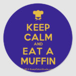 [Chef hat] keep calm and eat a muffin  Stickers