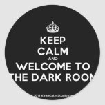 [Crown] keep calm and welcome to the dark room  Stickers