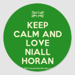 [UK Flag] keep calm and love niall horan  Stickers