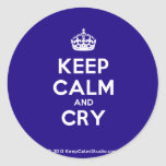 [Crown] keep calm and cry  Stickers