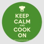 [Chef hat] keep calm and cook on  Stickers