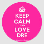 [Crown] keep calm and love dre  Stickers