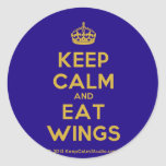 [Crown] keep calm and eat wings  Stickers