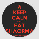 [Campfire] keep calm and eat shaorma  Stickers
