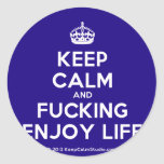 [Crown] keep calm and fucking enjoy life  Stickers