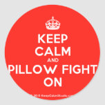 [Crown] keep calm and pillow fight on  Stickers
