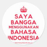 [Crown] saya bangga menggunakan bahasa indonesia  Stickers