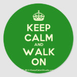[Crown] keep calm and walk on  Stickers