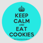[Crown] keep calm and eat cookies  Stickers