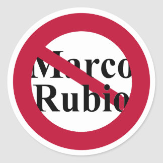 Stickers Against Marco Rubio