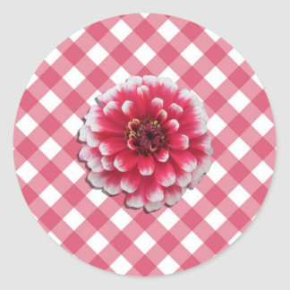 Stickers - BiColor Zinnia on Lattice