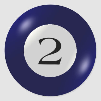 Stickers - Billiards - 2 Ball