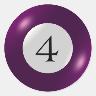 Stickers - Billiards - 4 Ball
