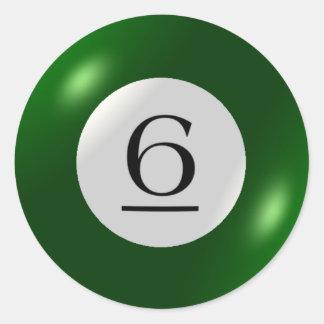 Stickers - Billiards - 6 Ball