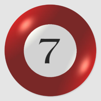 Stickers - Billiards - 7 Ball