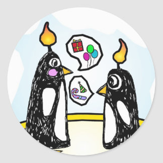 Stickers Birthday Cake Penguins