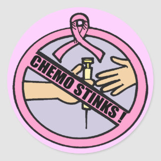 Stickers - Breast Cancer Chemo Stinks