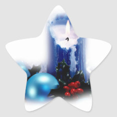 Stickers Candle Of Christmas at Zazzle