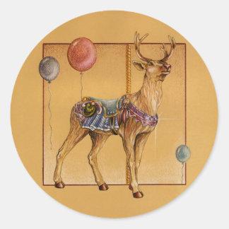Stickers - Carousel Reindeer or Elk