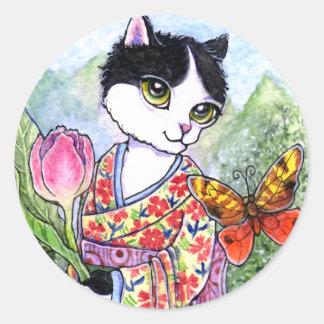 Stickers Cat Geisha Fairy Fantasy by Ann Howard