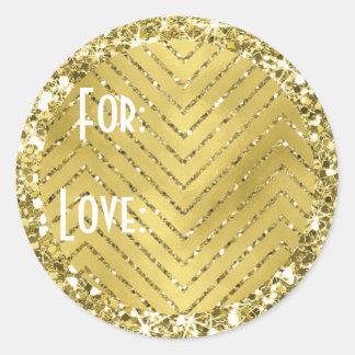 """Stickers """"Chevron Gold"""" Personalize"""